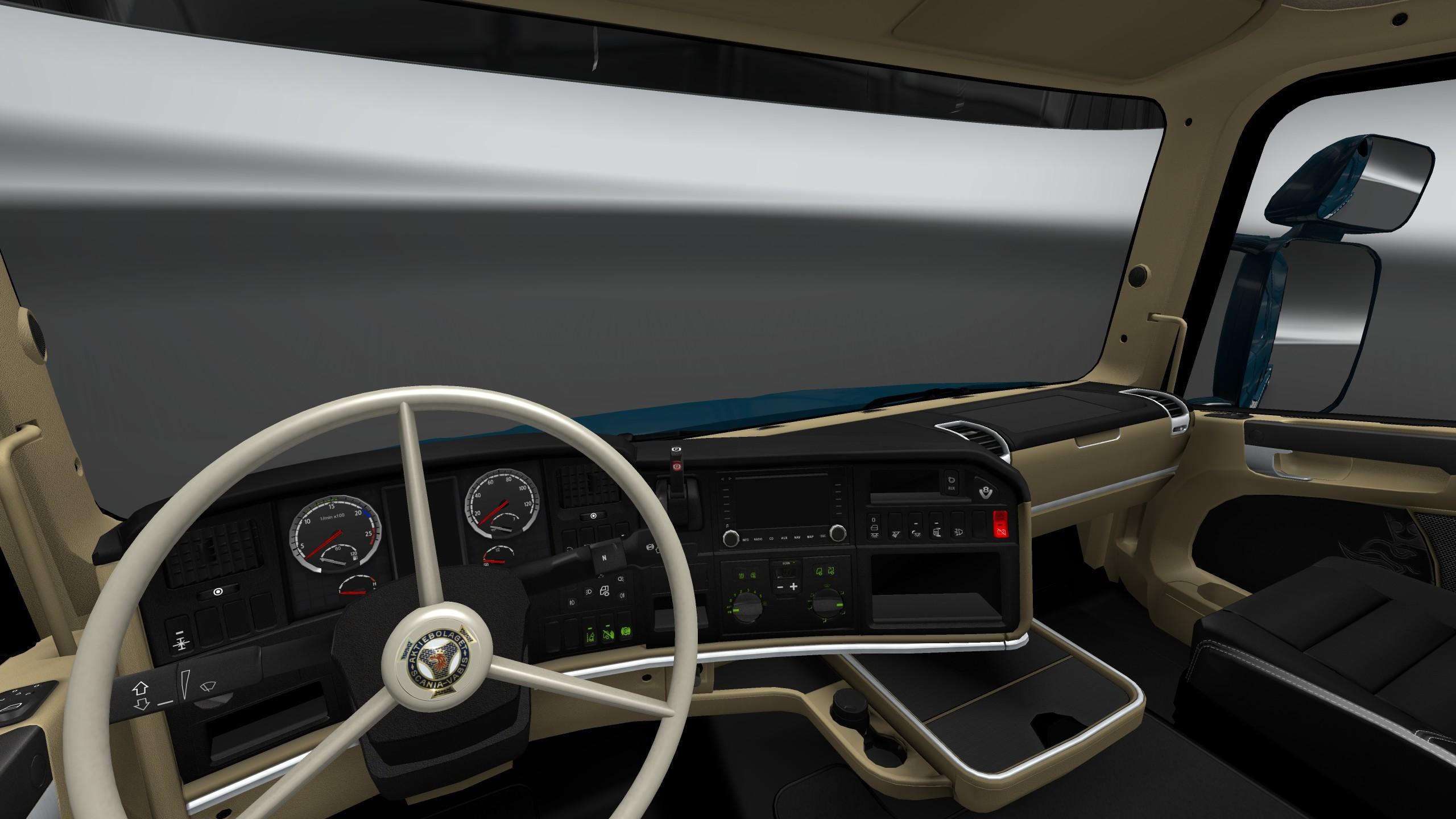 Scania trucks interiors exteriors improvements pack for ets2 mod is suitable for scs
