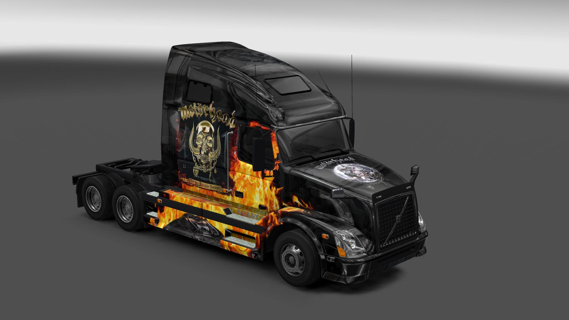 VOLVO VNL 670 MOTORHEAD SKIN Mod -Euro Truck Simulator 2 Mods