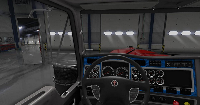 kenworth w900 blue interior for ats euro truck simulator 2 mods. Black Bedroom Furniture Sets. Home Design Ideas