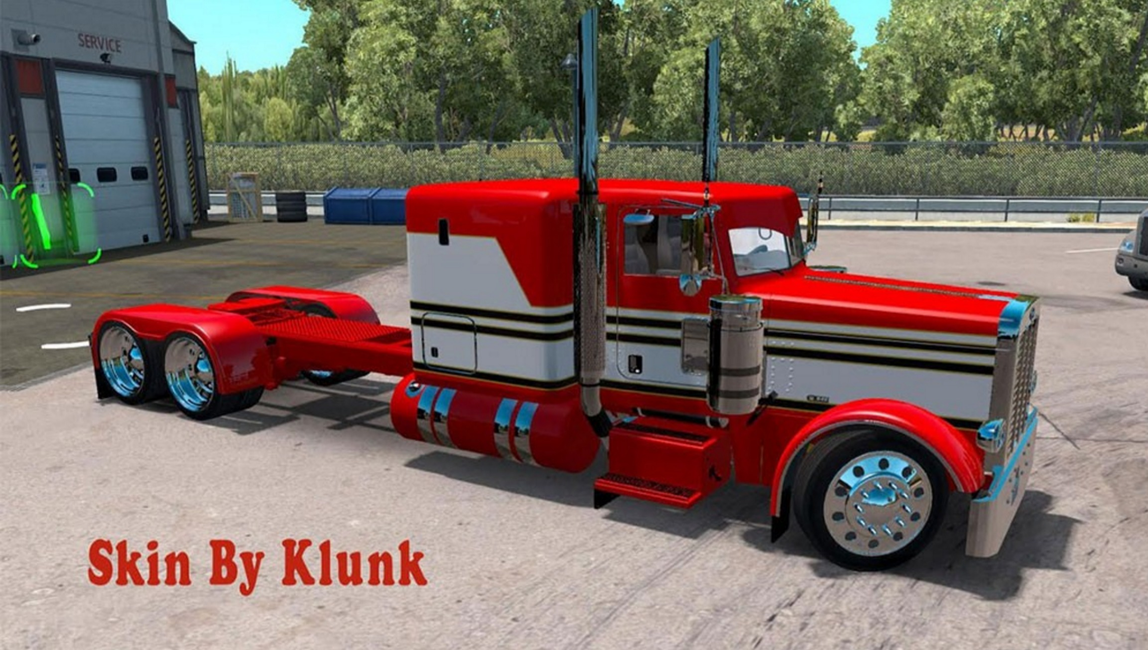 Peterbilt 389 Red White Mod For Ats Euro Truck Simulator 2 Mods American Truck Simulator Mods