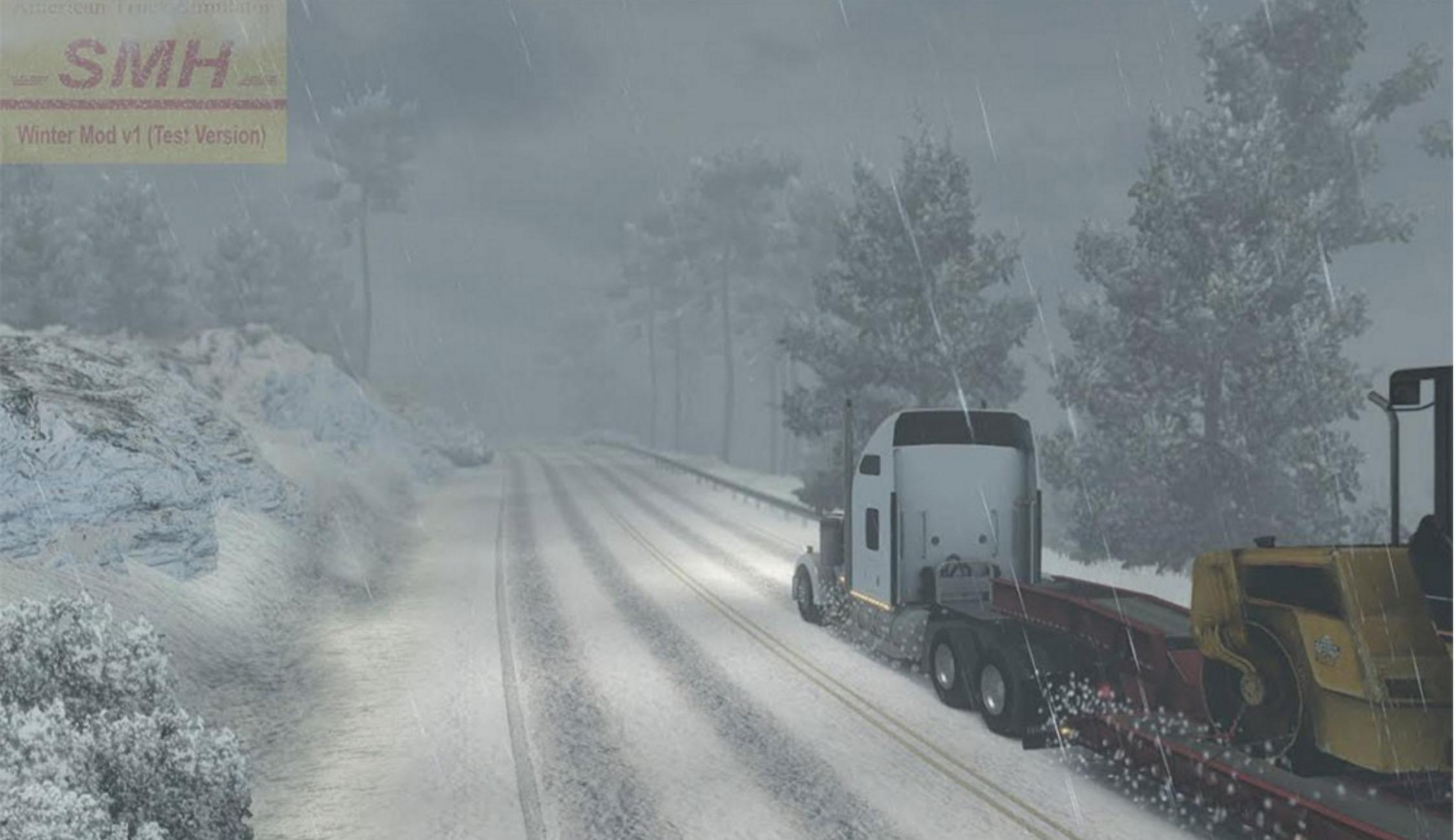 Winter V 1 0 For For Ats Euro Truck Simulator 2 Mods