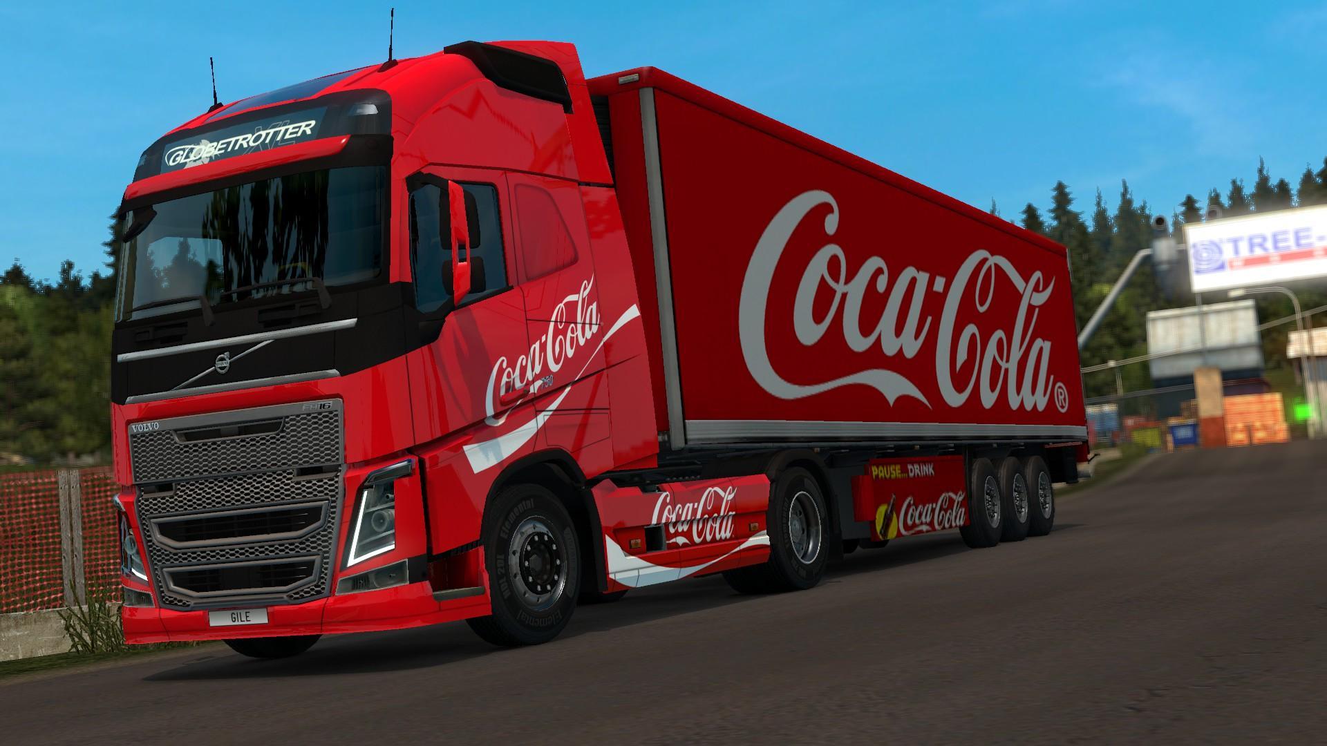 COCA-COLA VOLVO COMBO V1 Skin -Euro Truck Simulator 2 Mods
