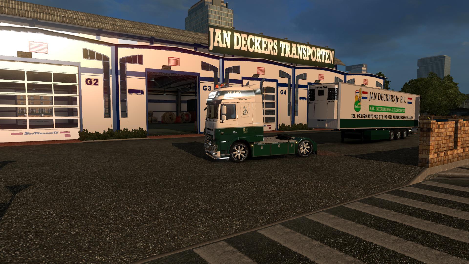 Jan Deckers Garage Custom Skin Euro Truck