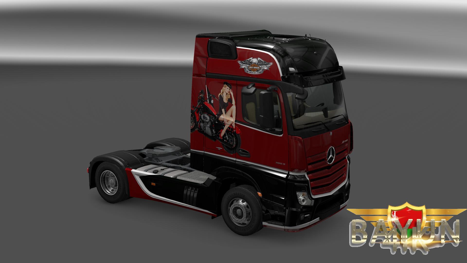 MERCEDES ACTROS MP4 HARLEY DAVIDSON SKIN Mod -Euro Truck ...