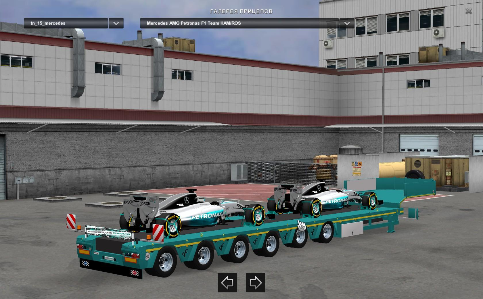 mercedes amg petronas formula one team v1 1 euro truck simulator 2 mods. Black Bedroom Furniture Sets. Home Design Ideas