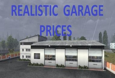 Realistic garage prices v1 for ets2 euro truck simulator for 2 1 2 car garage cost