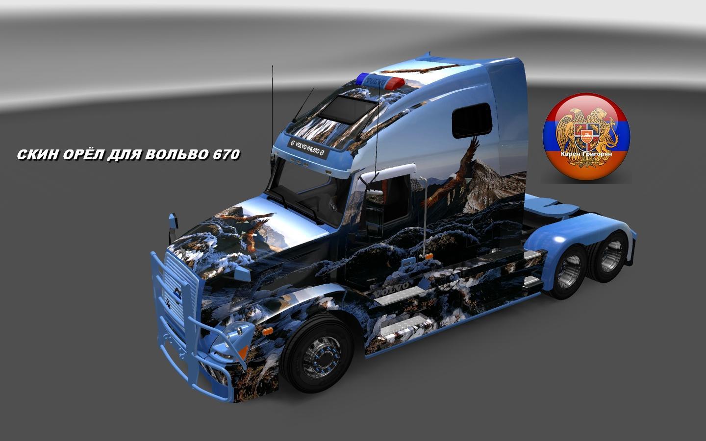 VOLVO VNL 670 EAGLE SKIN Mod -Euro Truck Simulator 2 Mods