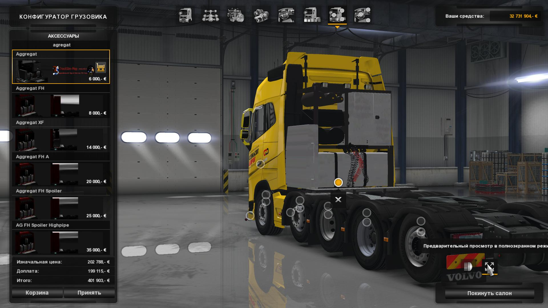 Volvo Truck Parts >> 2012 VOLVO FH 8X4 AND 10X4 ETS2 1.24.X.X ETS2 -Euro Truck Simulator 2 Mods