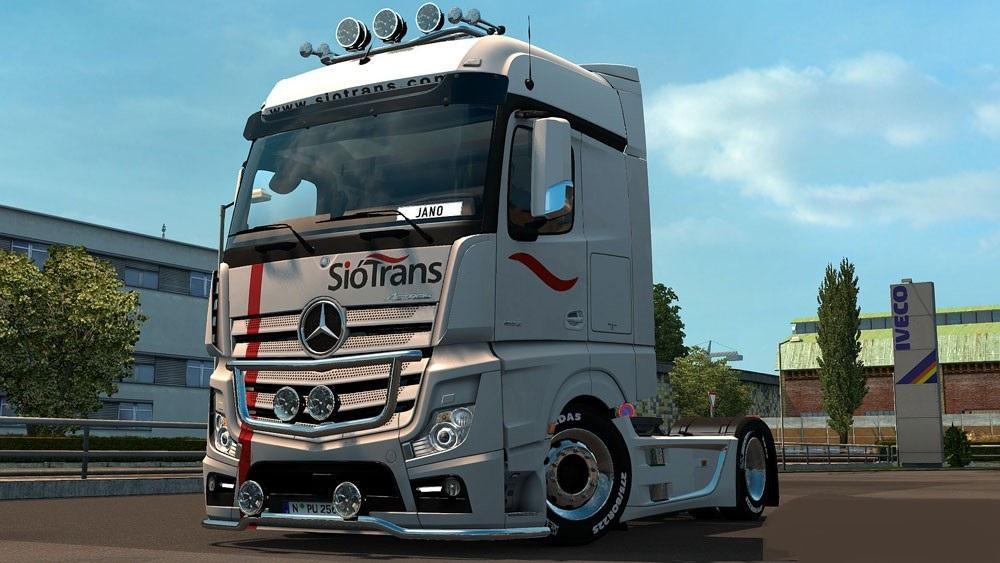 Mercedes Mp4 Siotrans Skin 1 23 Mod Euro Truck Simulator
