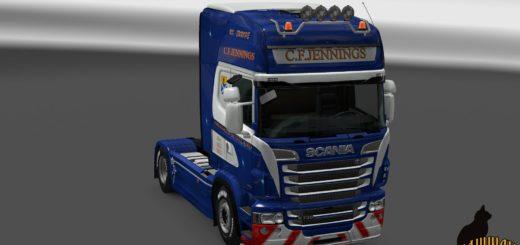 SCANIA R&S TOPLINE C.F.JENNINGS SKIN 1.23 Mod (1)