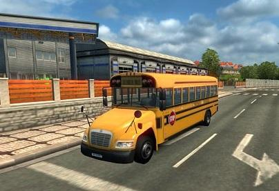 SCHOOL BUS IN TRAFFIC 1 23 Mod -Euro Truck Simulator 2 Mods