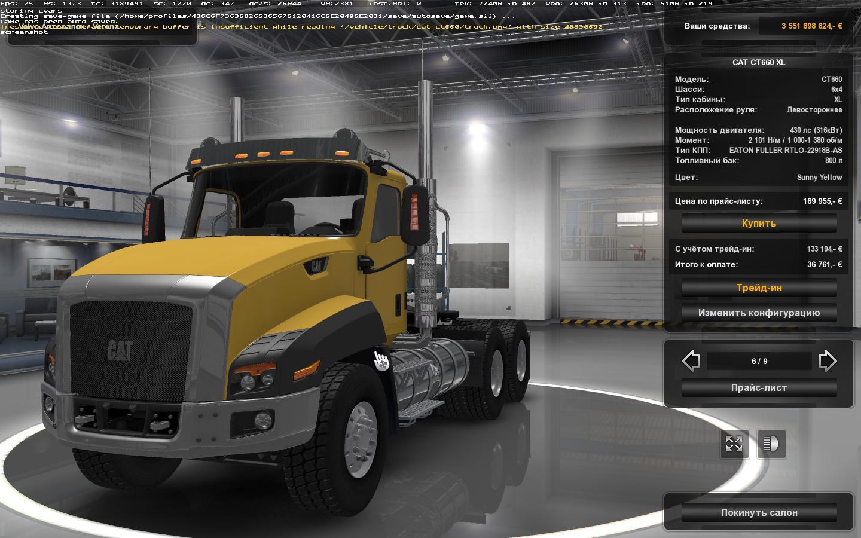 CAT CT660 FIX 1.24 Truck -Euro Truck Simulator 2 Mods