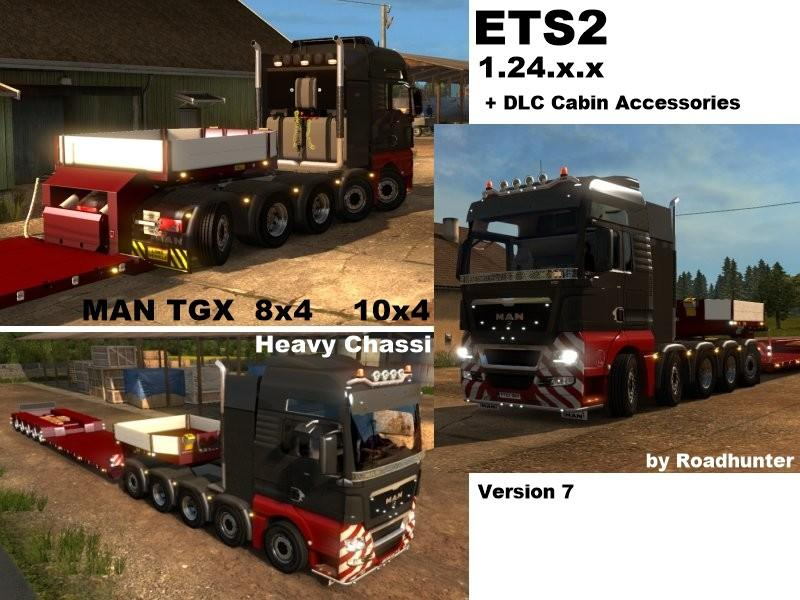 MAN HEAVY 8X4 / 10X4 V 7.0 Truck -Euro Truck Simulator 2 Mods