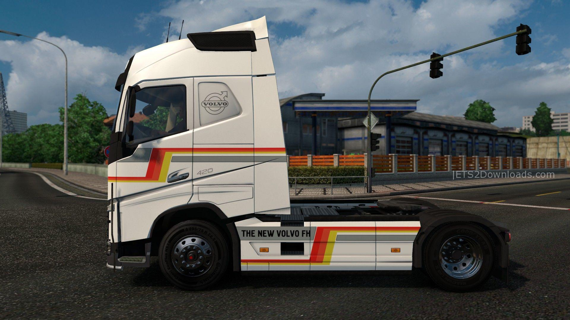 new volvo fh v2 6 truck euro truck simulator 2 mods. Black Bedroom Furniture Sets. Home Design Ideas