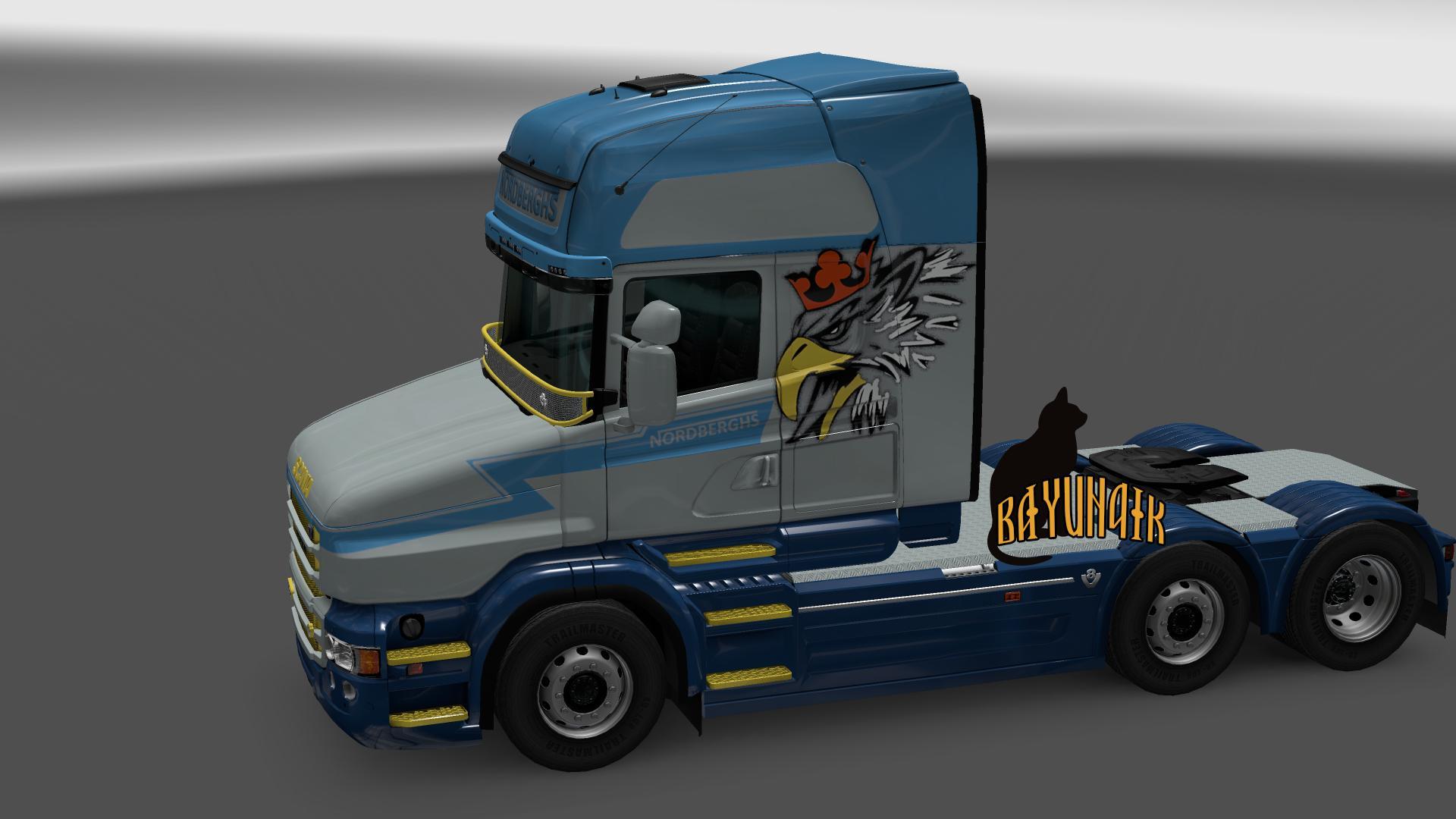 scania t series nordberghs skin 123 mod euro truck