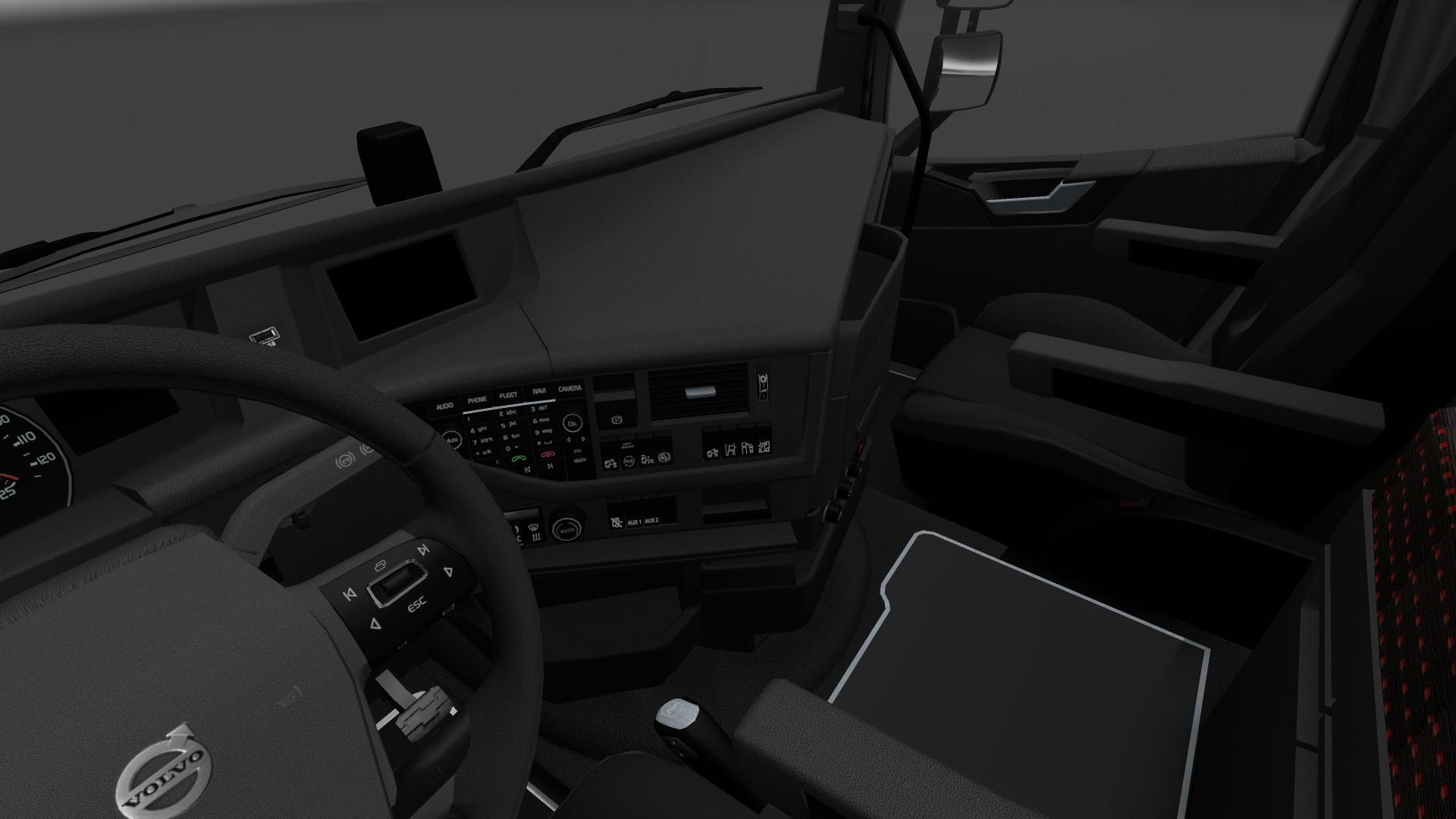 VOLVO FH16 2012 DARK INTERIOR V1 Mod -Euro Truck Simulator 2 Mods
