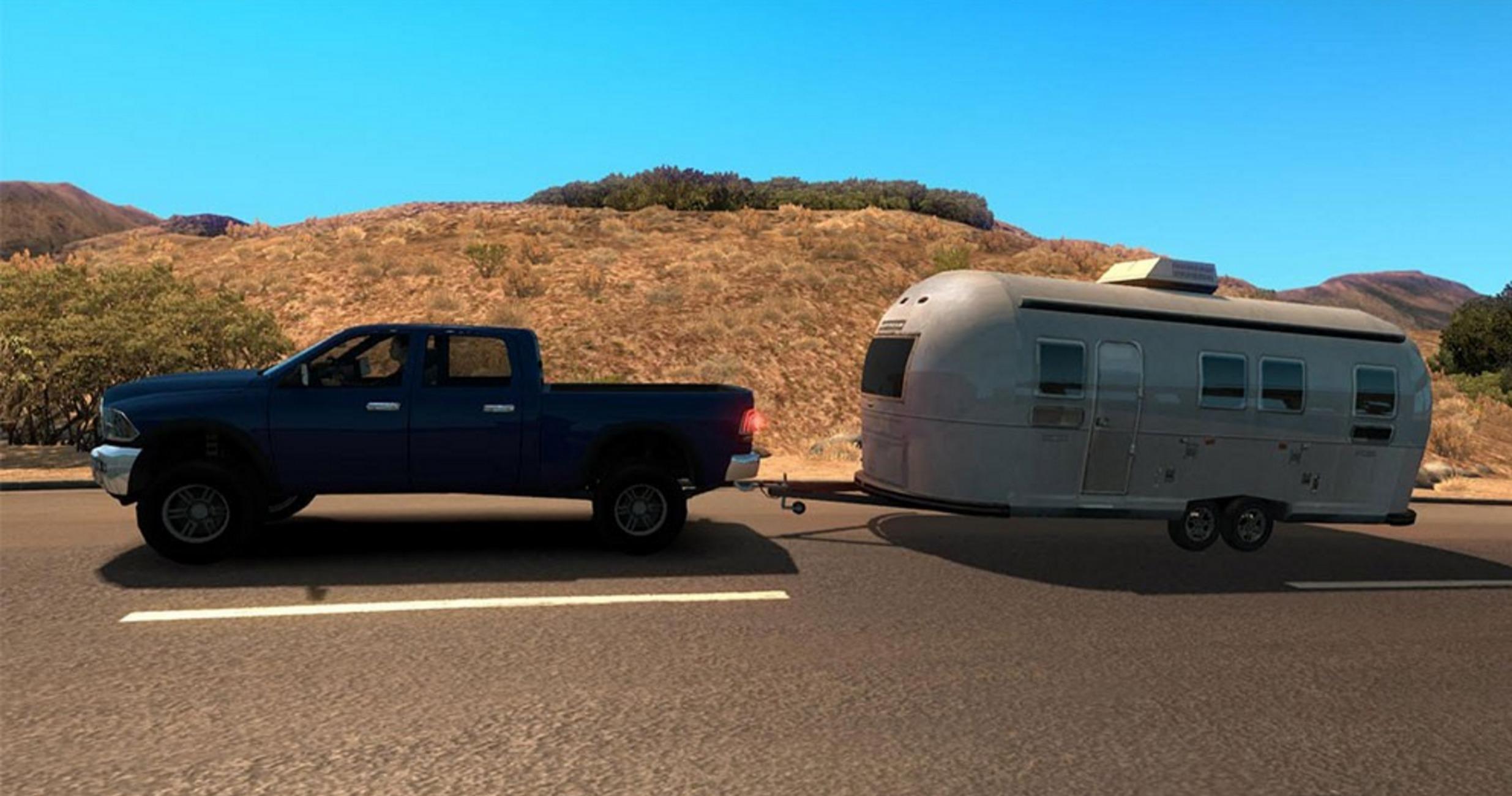Cars with caravans a i  traffic Mod -Euro Truck Simulator 2 Mods
