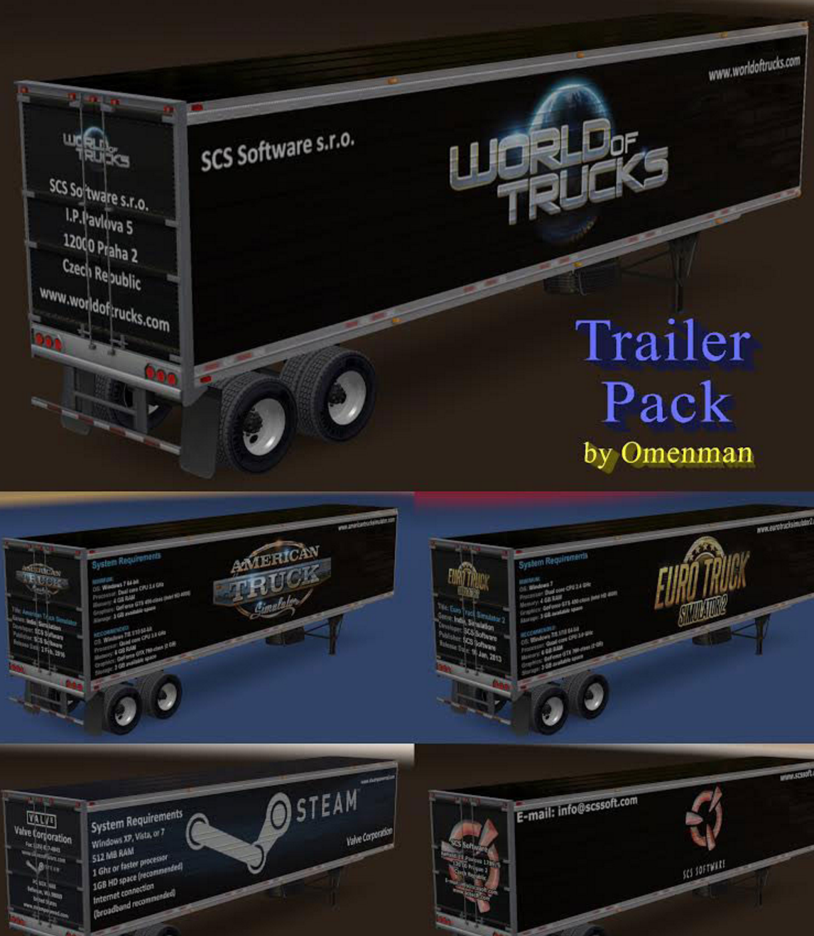 Trailers Pack by Omenman v 1 0 ATS -Euro Truck Simulator 2 Mods