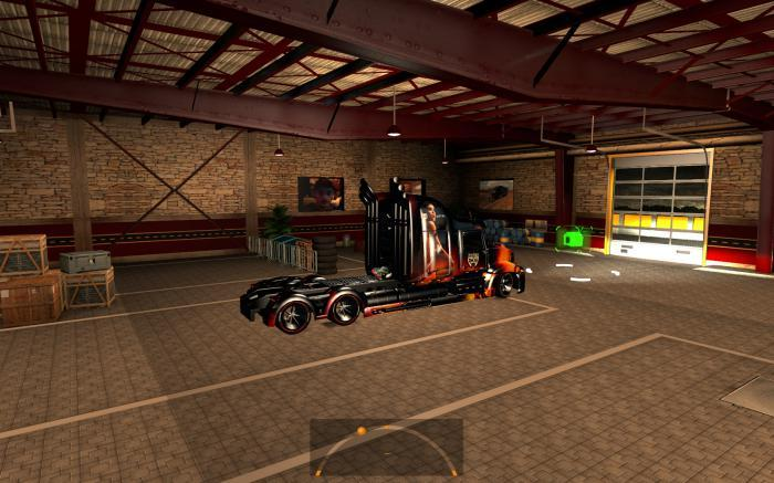 LARGE GARAGE CATERPILLAR 1.4.X ATS -Euro Truck Simulator 2 Mods
