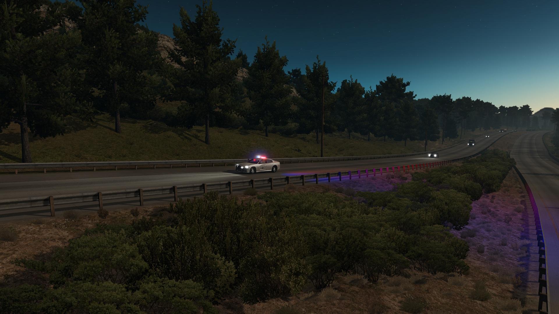 EMERGENCY VEHICLES USA TRAFFIC (1 6) ATS Mod -Euro Truck Simulator 2