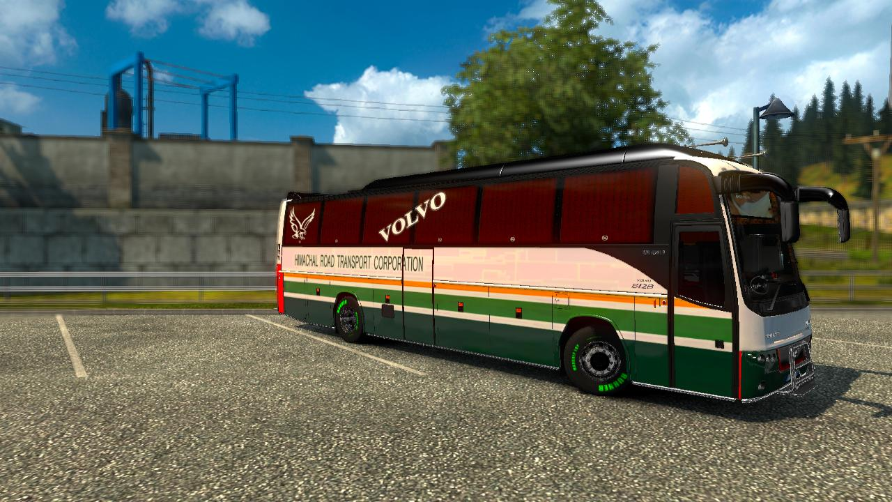 INDIAN (HRTC) SKIN FOR VOLVO B12B TX V1 1 BUS SKIN -Euro
