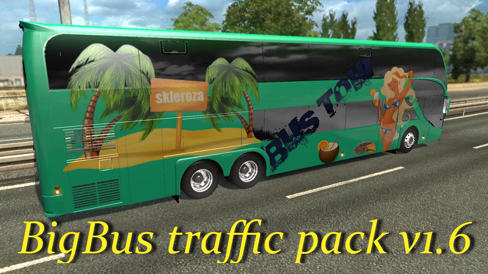 BIGBUS TRAFFIC PACK V1 6 MOD -Euro Truck Simulator 2 Mods