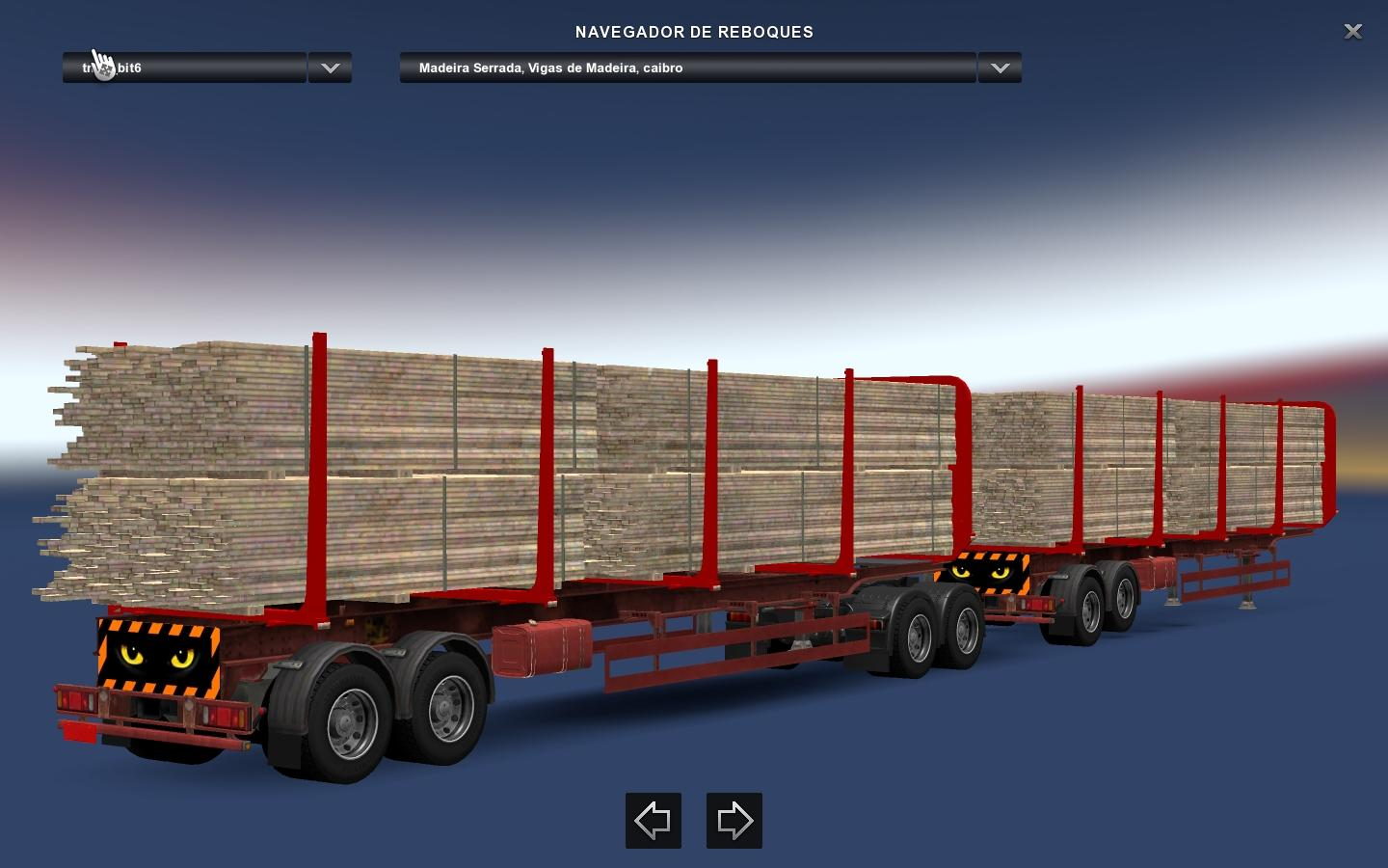 CARGO AND TRAFFIC DOUBLE TRAILERS FOR ETS2 1.28 MOD -Euro