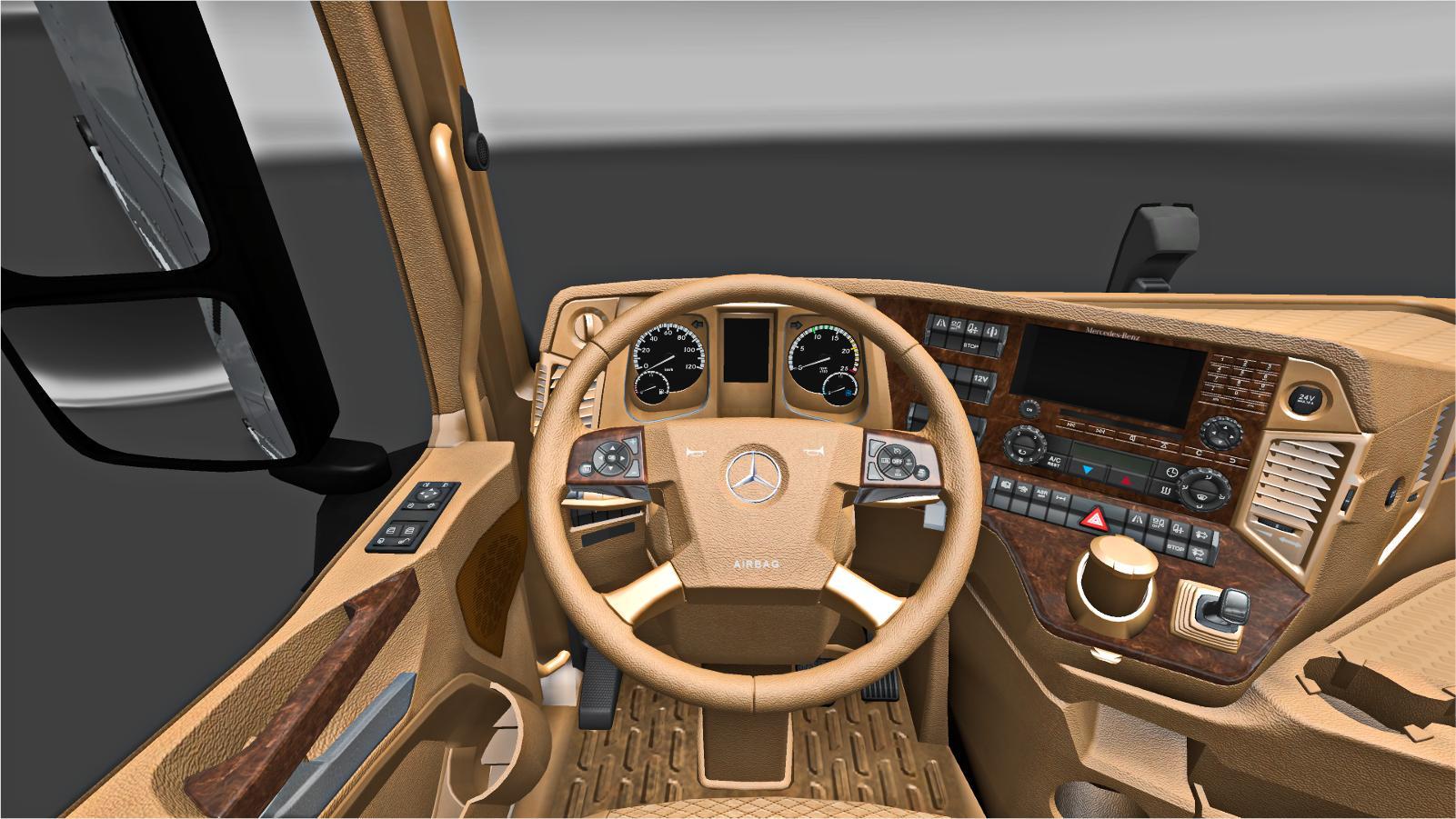 Mercedes Benz New Actros Tan Interior V1 0 Interior Mod