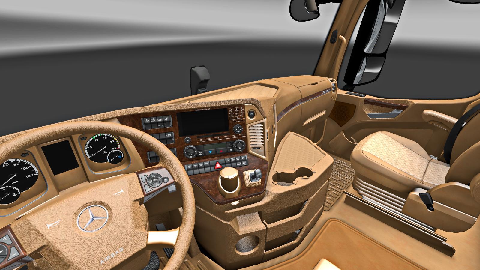 Mercedes benz new actros tan interior v1 0 interior mod for New interior