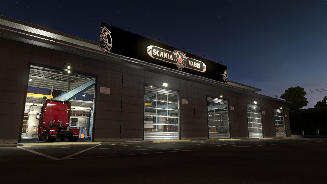 Scania vabis big garage mod euro truck simulator 2 mods for Garage gdn auto