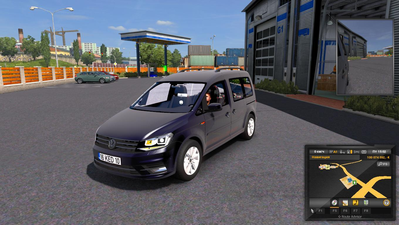 VOLKSWAGEN CADDY (1.28) CAR MOD -Euro Truck Simulator 2 Mods