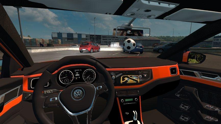 volkswagen polo 2018 car mod euro truck simulator 2 mods. Black Bedroom Furniture Sets. Home Design Ideas
