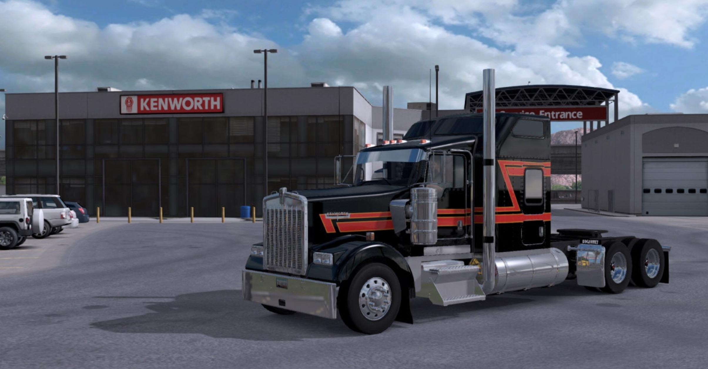 2017 Peterbilt 579 >> Kenworth W900 Big Black mod ATS -Euro Truck Simulator 2 Mods