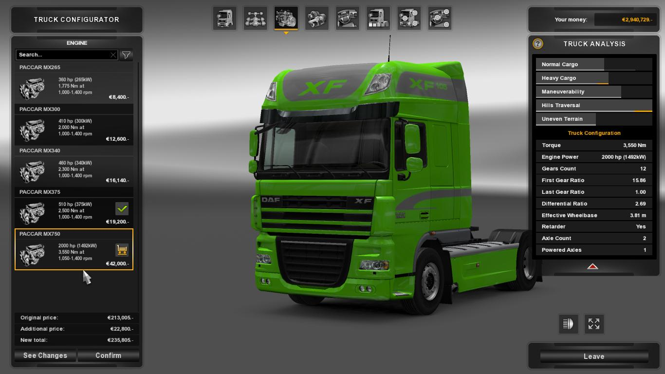2000 HP FOR ALL TRUCKS ALL VERSIONS MOD -Euro Truck