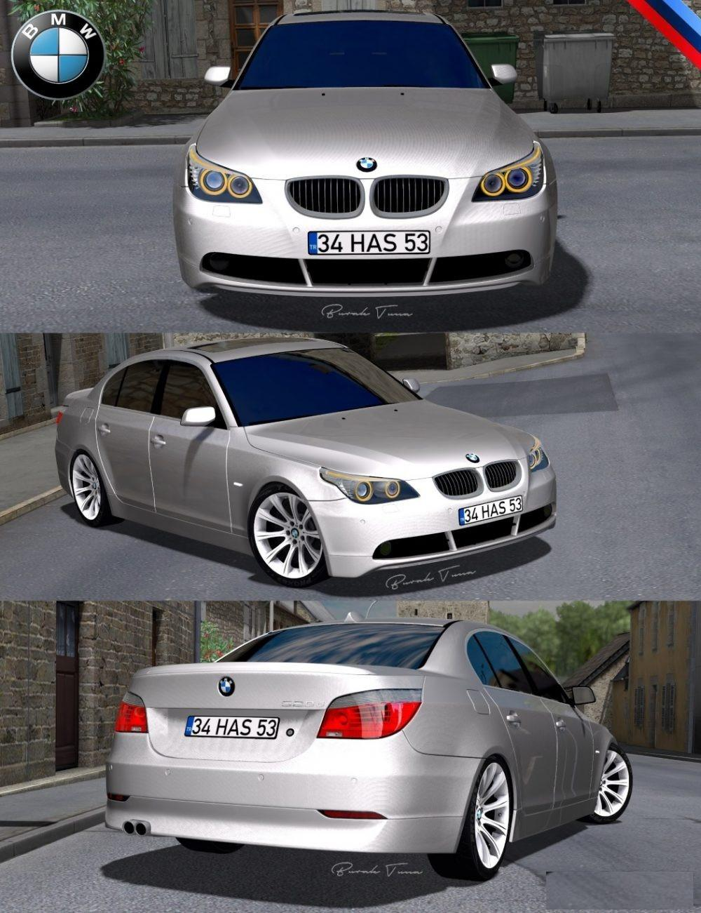 bmw 5 series e60 pack v2 0 car mod euro truck simulator 2 mods. Black Bedroom Furniture Sets. Home Design Ideas