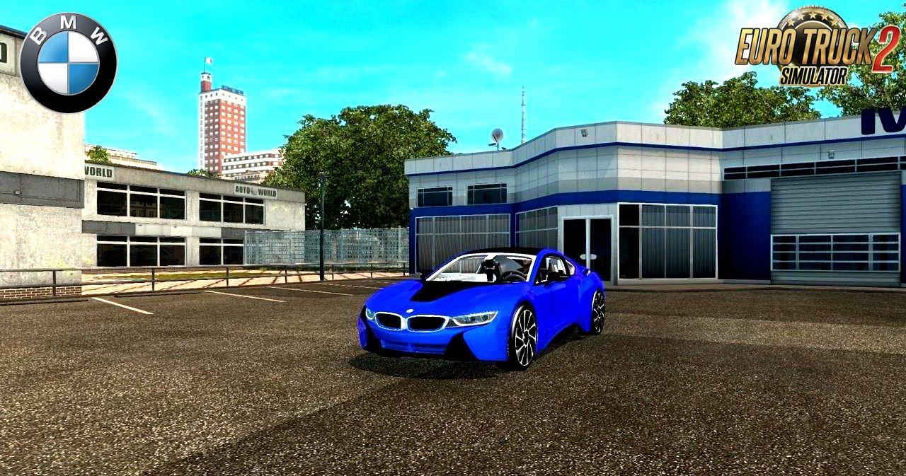 BMW I8 + INTERIOR V3.0 (1.28.X) CAR MOD -Euro Truck ...