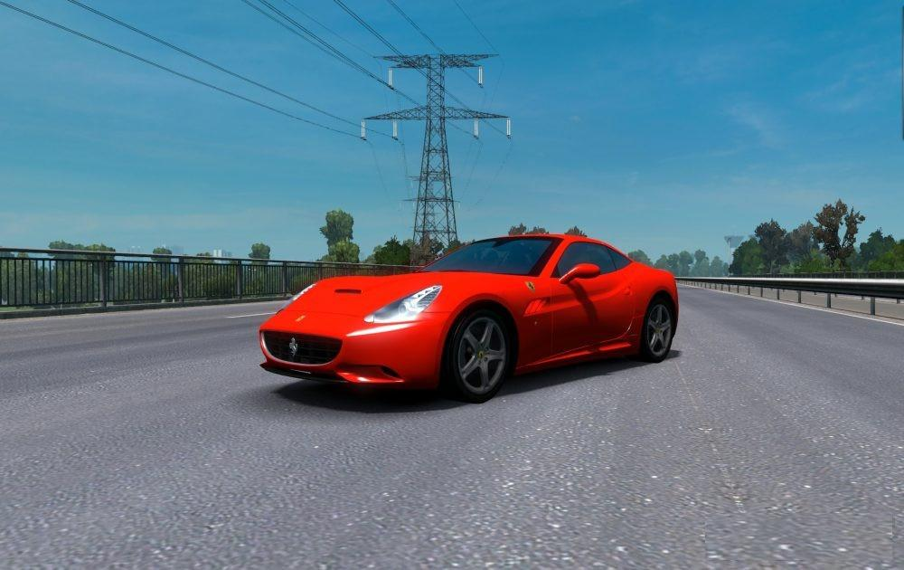 Ferrari California Edited Car Mod Euro Truck Simulator 2 Mods