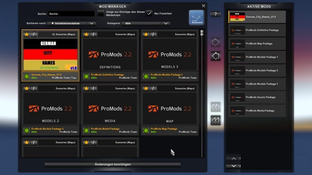 GERMAN CITY NAMES V1 0 FOR PROMODS 2 20 ETS2 -Euro Truck Simulator 2