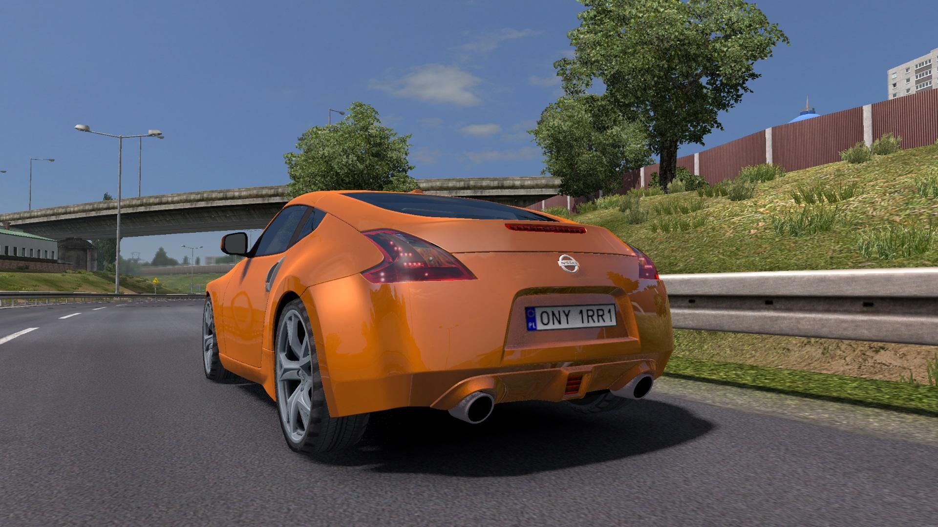 nissan 370z v1 car mod euro truck simulator 2 mods. Black Bedroom Furniture Sets. Home Design Ideas
