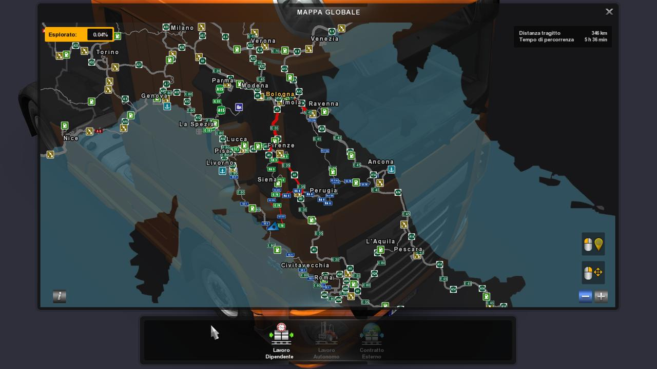 Promods 2 20 Amp Italymap V2 0 Fix Map Mod Euro Truck