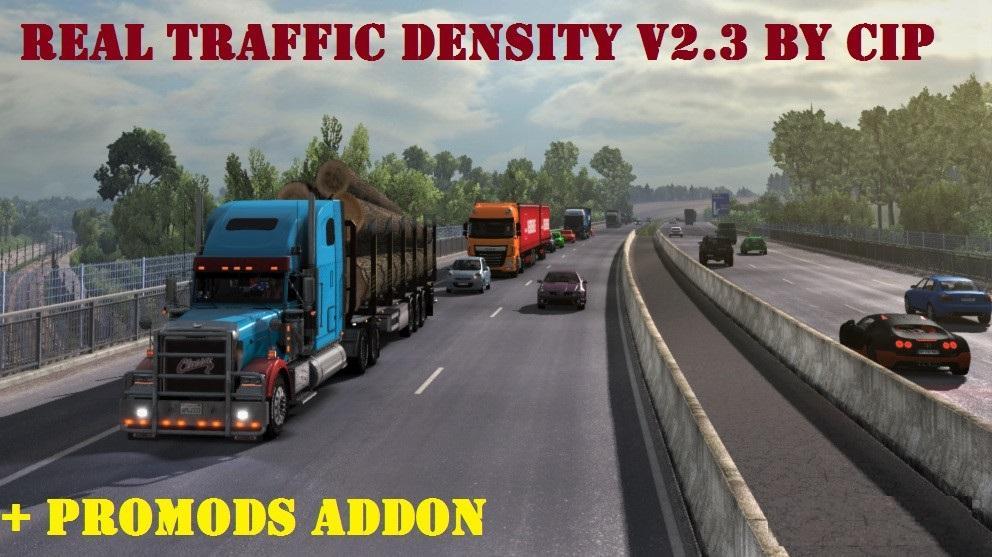 REAL TRAFFIC DENSITY V2 3 BY CIP MOD -Euro Truck Simulator 2