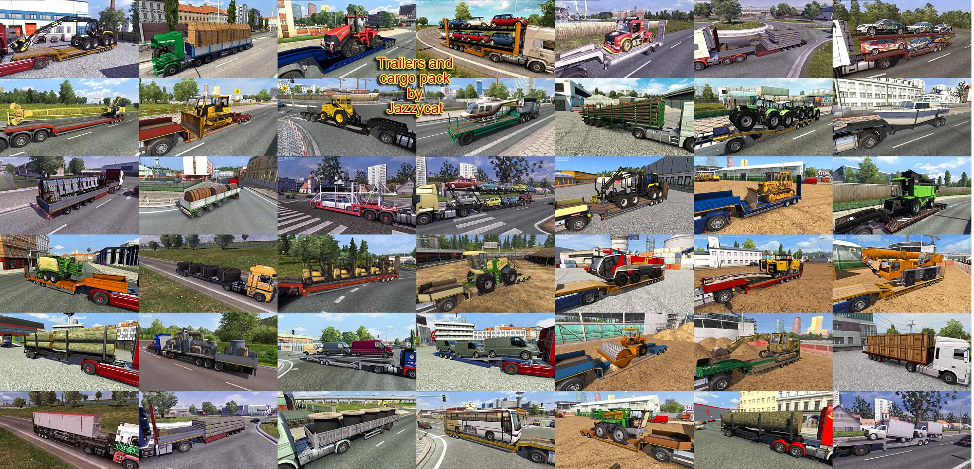 TRAILERS AND CARGO PACK BY JAZZYCAT V5 4 ETS2 -Euro Truck