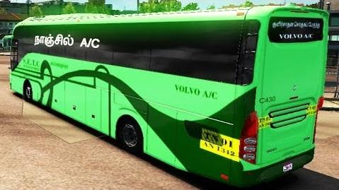 INDIAN VOLVO BUS V2 1 ADDED SKINS BUS MOD -Euro Truck