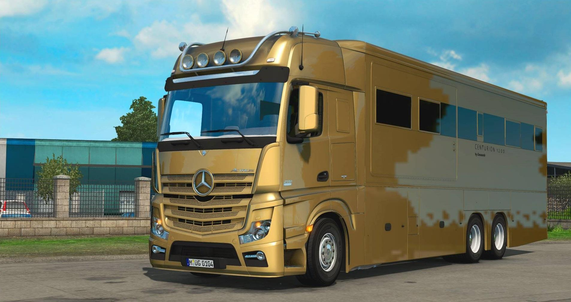 Mercedes mp4 actros motorhome truck mod euro truck for Mercedes benz motor home