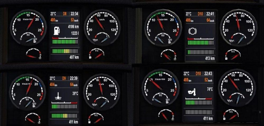 Scania Dashboard Real V1 0 Mod Euro Truck Simulator 2 Mods