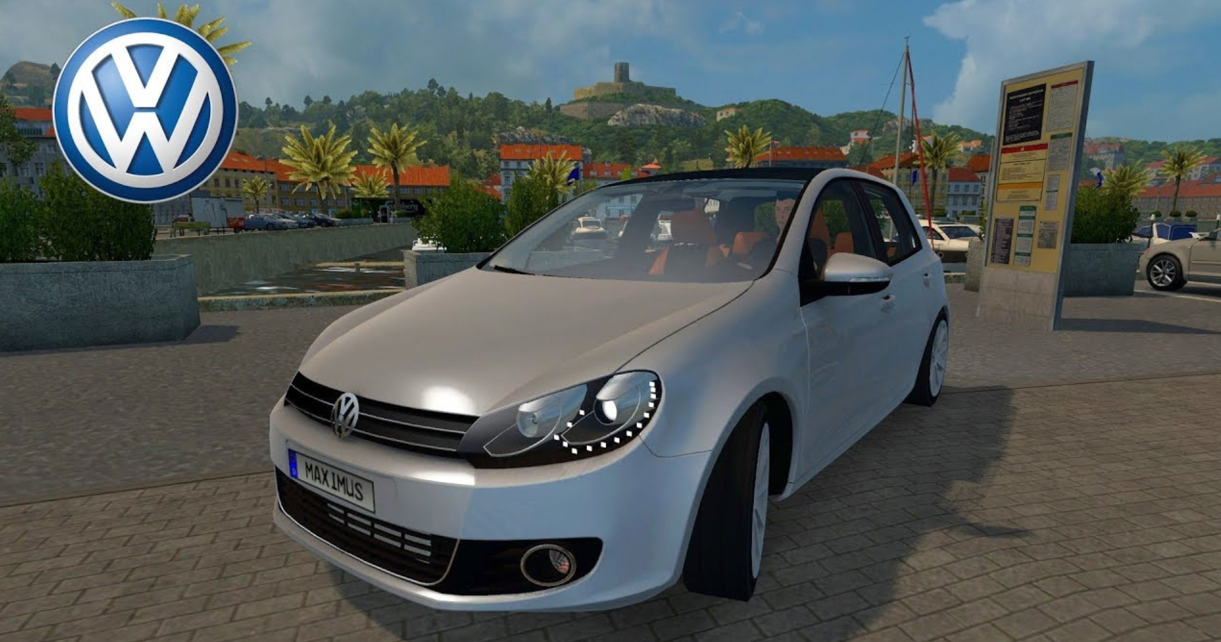 volkswagen voiture for ats euro truck simulator 2 mods. Black Bedroom Furniture Sets. Home Design Ideas