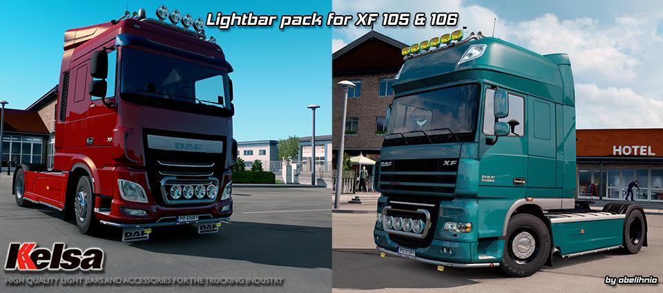 [1.30] KELSA LIGHTBARS FOR DAF XF 105 & 106 V1.21 TUNING MOD -Euro Truck Simulator 2 Mods