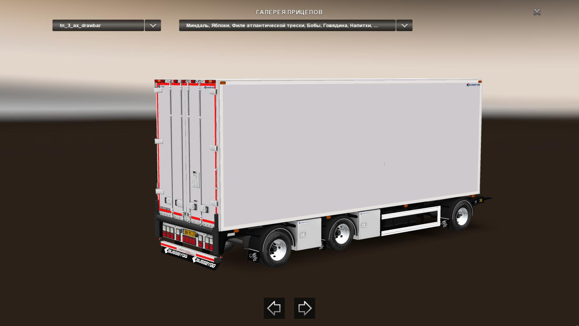 bussbygg 3 axle drawbar trailer v1 2 ets2 euro truck simulator 2 mods. Black Bedroom Furniture Sets. Home Design Ideas