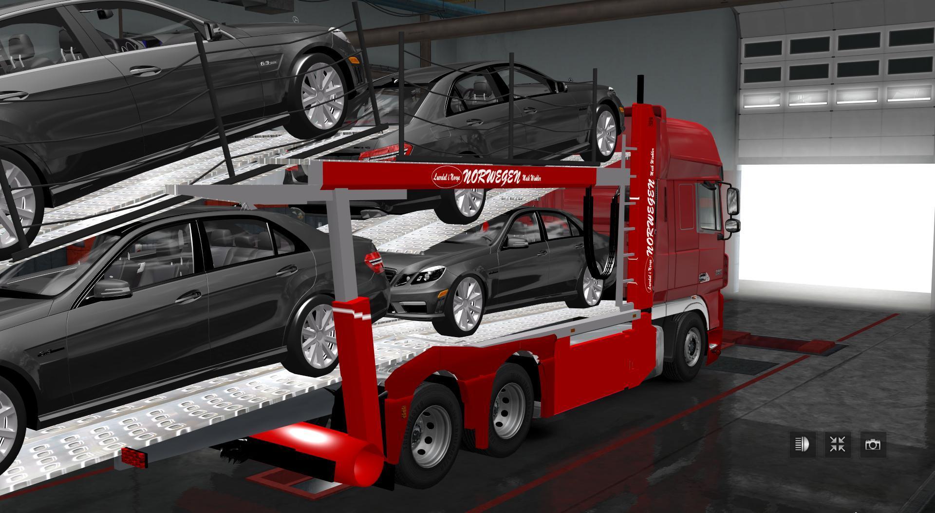 daf xf car carrier daf xf auto transporter v1 0 truck mod euro truck simulator 2 mods. Black Bedroom Furniture Sets. Home Design Ideas