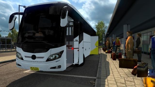 INDIAN MERCEDES BENZ BUS 1 30 X BUS MOD -Euro Truck
